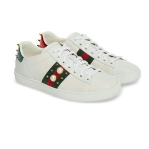 Gucci New Ace Low Top Sneaker  Size 37